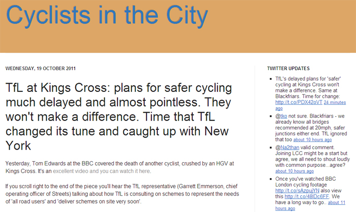 Cyclists in the city